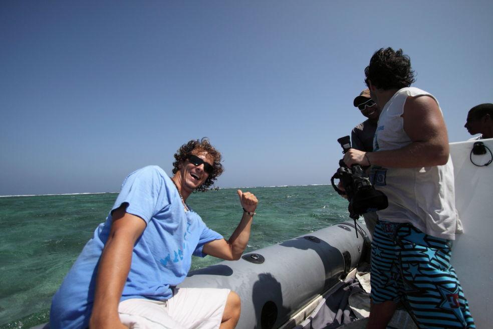 Marv, Joe Millen and Chase Burns chasing kiters