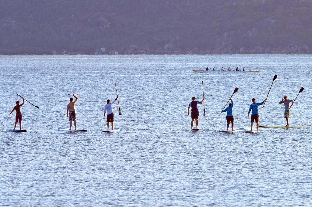 Team building SUP session on The Strand