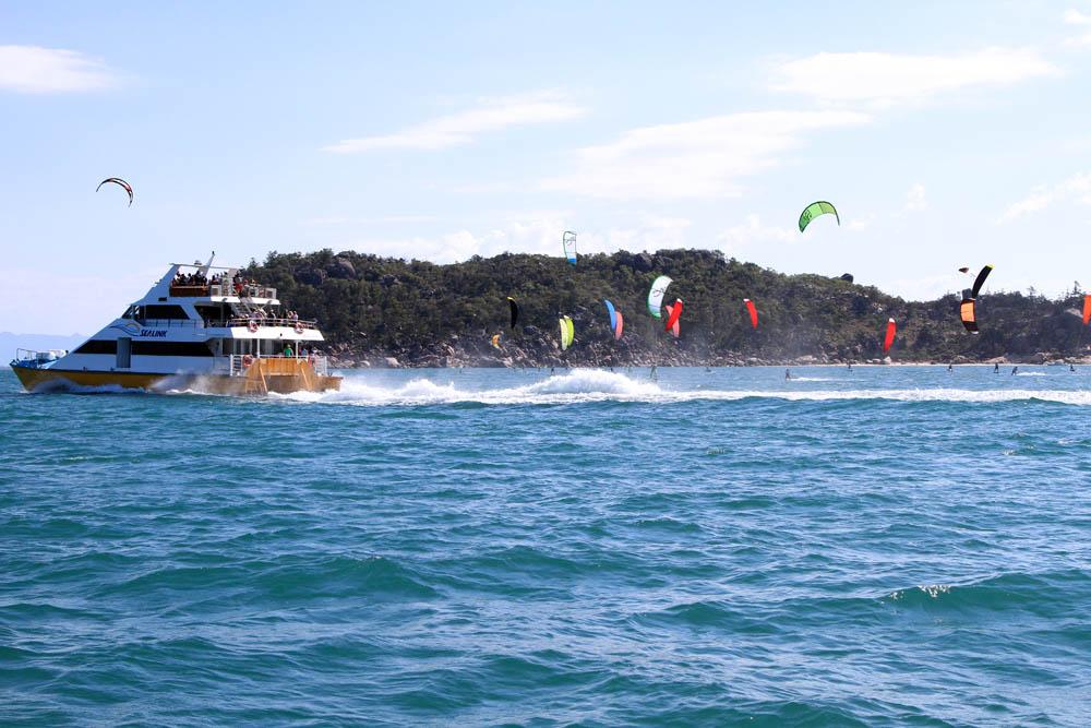 Boat vs Board Kite Race