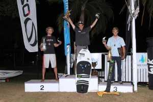 Nico Parlier on top of the podium in Australia